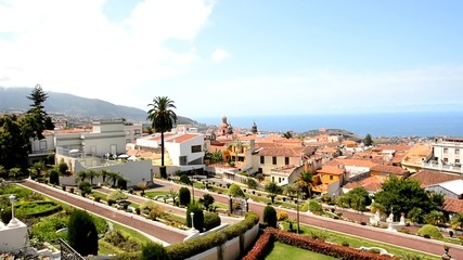 Panoramic view of the town of La Orotava, Tenerife.