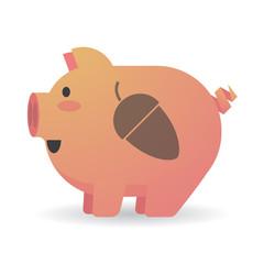 Cartoon pig with an acorn