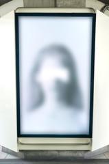 Ghost in blur billboard