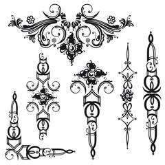 Ornamente, Barock, vector set