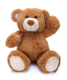 Sweet teddy bear waving his paw - 70563207