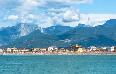 Viareggio panoramic landscape,Versilia,Tuscany,Italy
