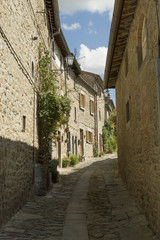 narrow streets of Cortona, Tuscany, Italy