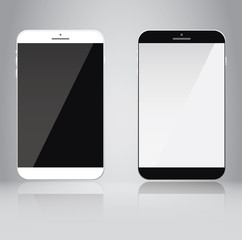Smartphone or tablet isolated, vector object