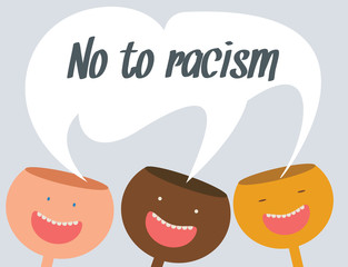No to racism vector conceptual illustration