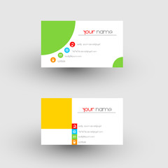 Modern simple light business card template, easy all editable