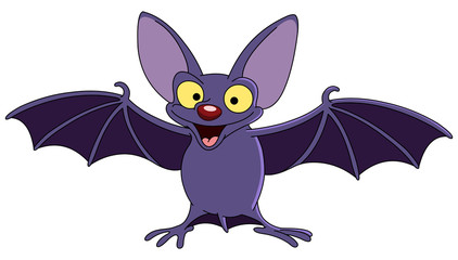 Bat with spread wings