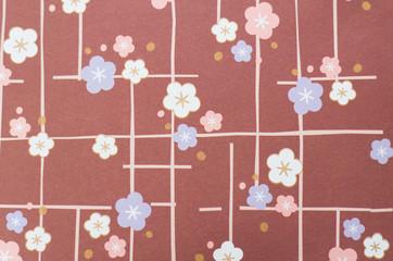 梅の模様をした千代紙
