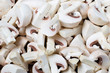 canvas print picture - frische geschnittene Champignons