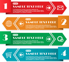 Infographic four lines