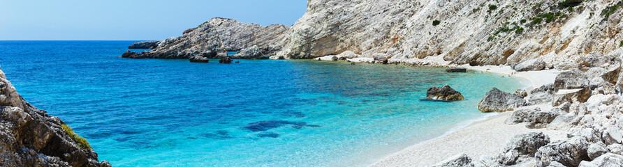 Petani Beach panorama (Kefalonia, Greece)