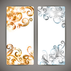 Set of fantasy vector banners.