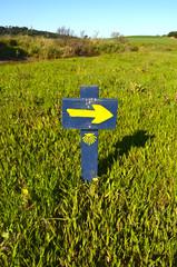 Cartel indicativo Camino de Santiago
