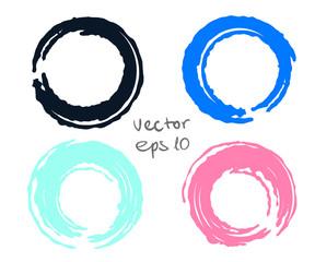 Painted circles set
