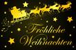 Fröhliche Weihnachten, Rentierschlitten, Weihnachtskarte, Gruß