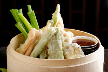 Japanese tempura with vegetables
