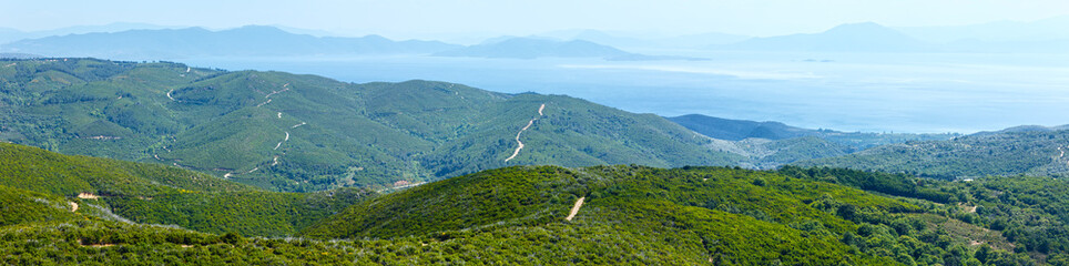 Summer view from top of the hill (Greece)