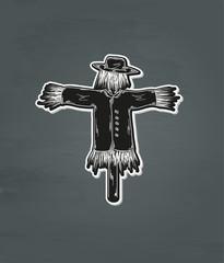 black scarecrow