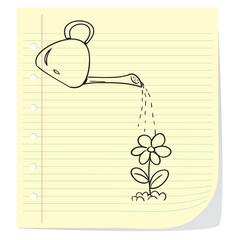 Watering Flower