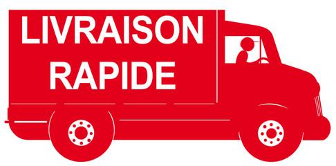 camion rouge de livraison rapide