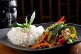 Fototapety Stir Fry vegetable/Chicken with Rice