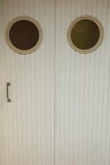 White door-French garage