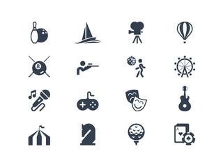 Entertainment icons. Lyra series