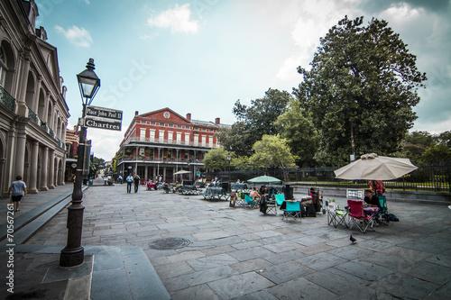 Leinwanddruck Bild Jackson Square New Orleans