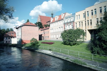 Bydgoszcz, Poland - cross processed color tone