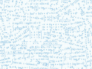 MATHEMATICAL EQUATIONS seamless pattern (math maths formulae)