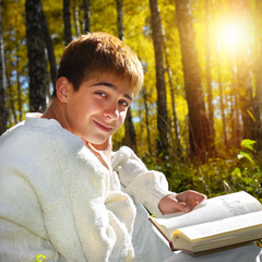 Boy with the Book outdoor
