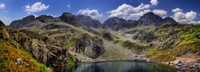 View from the pass Zawrat, Tatra