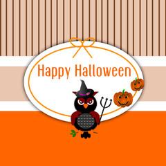 Cartolina d'auguri di Halloween