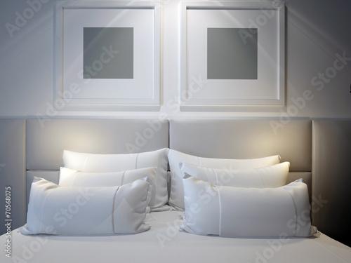 modern double bedroom - 70568075