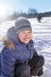 happy boy play outdoors