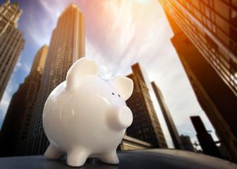 Piggybank in Financial District
