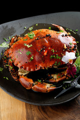 Pepper sauce crab (Singaporean recipe)