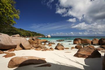 beach in Seychelles islands