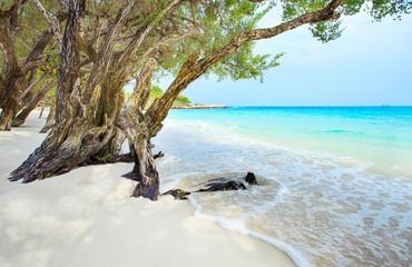 beautiful beach of Ao Wai Koh Samen sea national park in Rayong