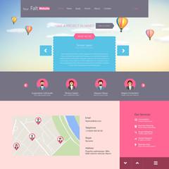 Flat vector website template