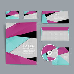 modern abstract corporate identity set
