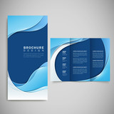Fototapety smooth curve lines background brochure template