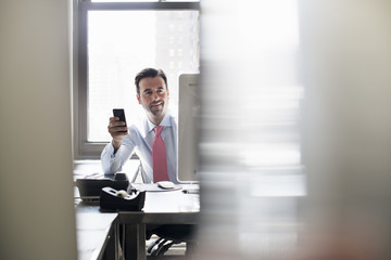 A man holding a smart phone