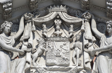 Bas-relief on the facade of palace