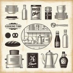 Retro kitchen set