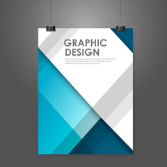 creative business poster template in blue