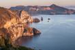 Leinwanddruck Bild - view on Vulcano island from Lipari, Sicily, Italy