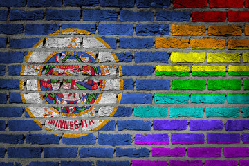 Dark brick wall - LGBT rights - Minnesota