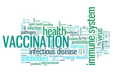 Vaccinations - word cloud illustration
