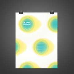 watercolor style poster template